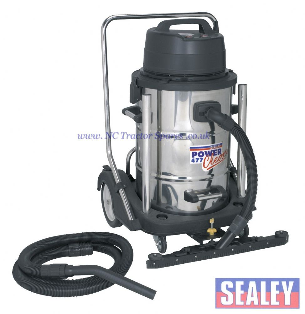 Industrial Wet Amp Dry Vacuum Cleaner 77ltr Stainless Drum